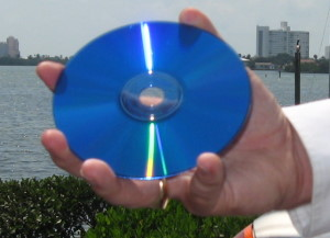 A CD or DVD stores the contents of many bankers's boxes or file cabinets.
